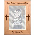 Alder Photo Frame Engraved